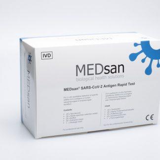 25er Verpackung MEDsan® SARS-CoV-2 Antigen Rapid Test